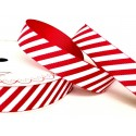 16mm Red Bertie's Bows Candy Cane Merry Christmas Grosgrain Craft Ribbon Selection