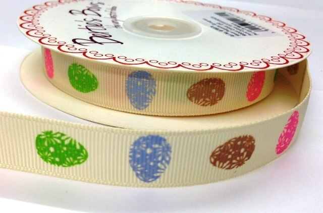 2 Metres 16mm Bertie's Bows Easter Eggs Candy Grosgrain Craft Ribbon