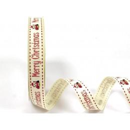 1 Metre 16mm Bertie's Bows Merry Christmas Festive Owls Grosgrain Craft Ribbon
