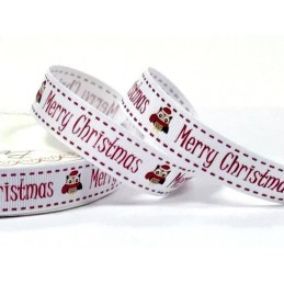 1 Metre 16mm Bertie's Bows Merry Christmas Festive Owls Grosgrain Craft Ribbon