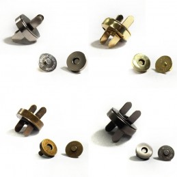 14mm Magnetic Fasteners Handbag Purse Metal Clasps 5, 10, 20 Pack