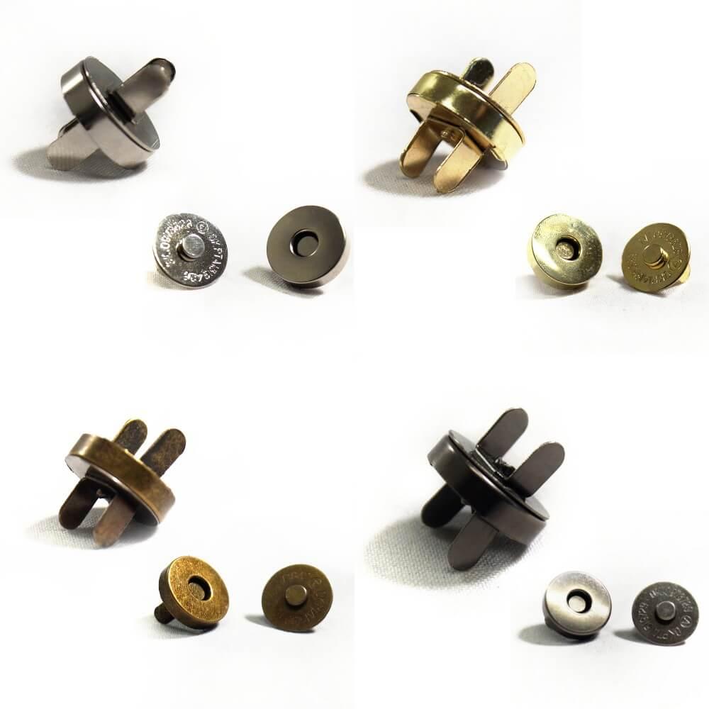 18mm Magnetic Fasteners Handbag Purse Metal Clasps  4, 10, 20 Pack Antique Brass