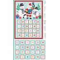 100% Cotton Fabric Makower Christmas Xmas Jolly Santa Advent Calendar Panel