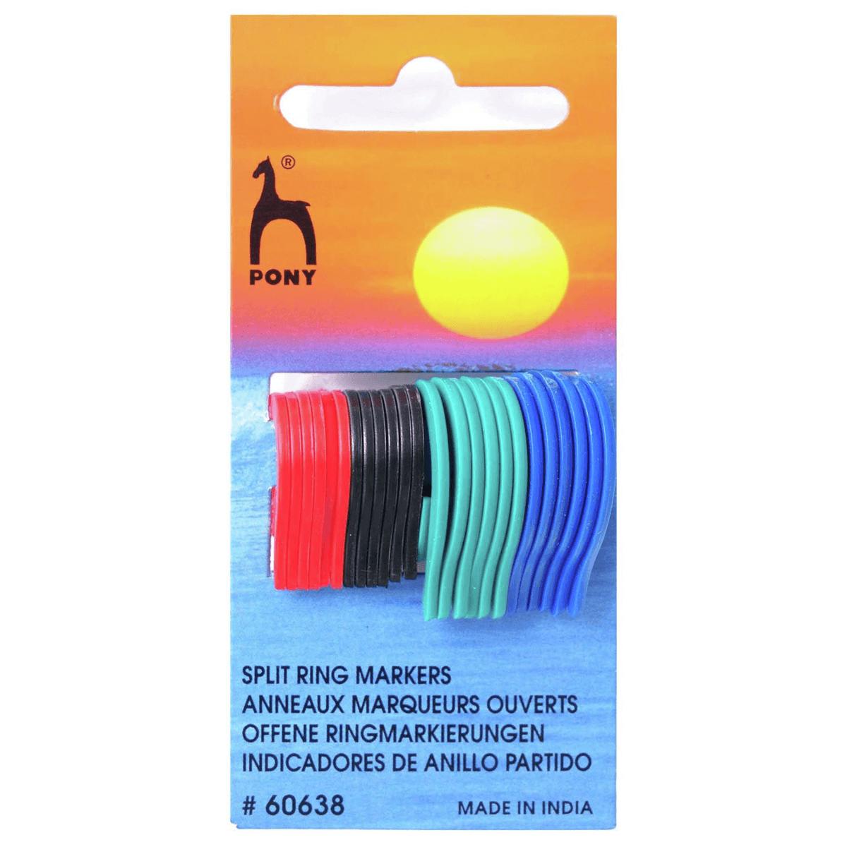 24 x Pony Flat Split Ring Stitch Markers Knitting