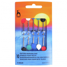 10 x Pony Knitters Marking Pins for Knitting Blunt Points