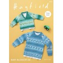Hayfield Knitting Pattern 4934 Easy Knit V Neck Round Neck Sweater Jumper