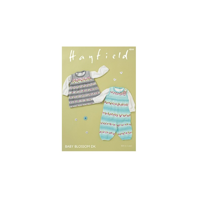 Hayfield Knitting Pattern 4844 Baby Dungarees Pinafore Aged 0 - 2 Years