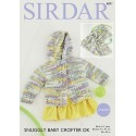 Sirdar Crochet Pattern 4871 Baby Blanket & Matching Hooded Jacket 0-7 Years