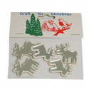 5 x Mirror: 3D Reindeer Christmas Decorations Embellishments