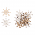 12 x Wooden: Snowflakes Christmas Decorations Embellishments