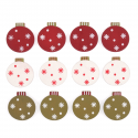 12 x Assorted Baubles Christmas Decorations Embellishments