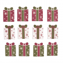 12 x Assorted Parcels Christmas Decorations Embellishments