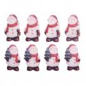 8 x Snowmen Christmas Decorations Embellishments