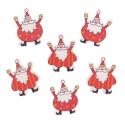 6 x Santa Claus Christmas Decorations Embellishments
