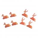 8 x Reindeer Christmas Decorations Embellishments