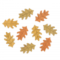 9 x Wood: Leaves Christmas Decorations Embellishments