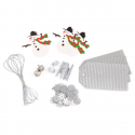 3 Sets DIY Christmas Kit: Silver Christmas Decorations Embellishments