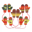 5 x Mitten Pairs Christmas Decorations Embellishments