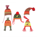5 x Winter Hats Christmas Decorations Embellishments