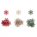 18 x Wooden: Small Snowflakes Christmas Decorations Embellishments