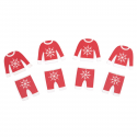 8 x Jumper & Trousers Stickers Christmas Decorations Embellishments