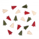 8 x Wooden: Tree Hat Stickers Christmas Decorations Embellishments