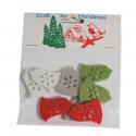 8 x Felt: Bell Stickers Christmas Decorations Embellishments