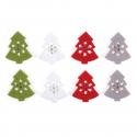 8 x Felt: Tree Stickers Christmas Decorations Embellishments