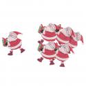 6 x Christmas Santa Christmas Decorations Embellishments