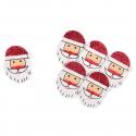 6 x Glitter Santa Christmas Decorations Embellishments