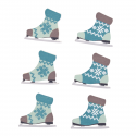 6 x Bootie Skates Christmas Decorations Embellishments