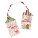 2 x Let It Snow Christmas Decorations Embellishments