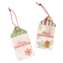 2 x Merry Christmas Christmas Decorations Embellishments