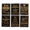 6 x Christmas Stamps Christmas Decorations Embellishments