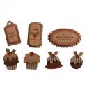 7 x Christmas Pudding Christmas Decorations Embellishments