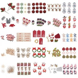 Christmas Decorations Embellishments Craft Card Making Scrapbooking Handmade