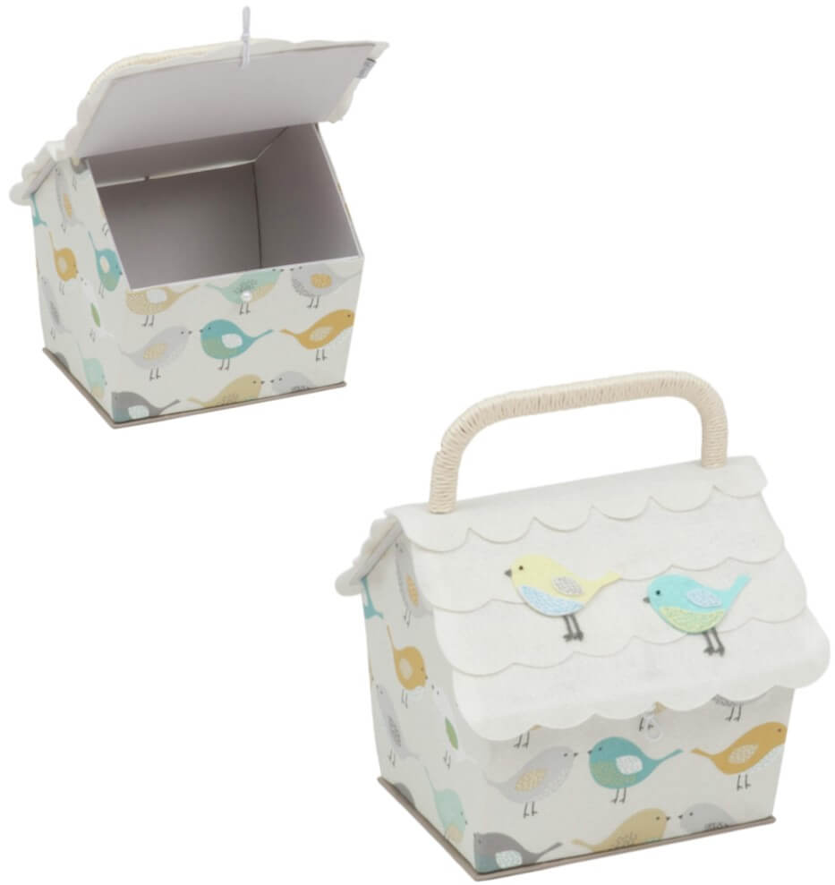 Premium Collection Sewing Box Birdhouse Birds