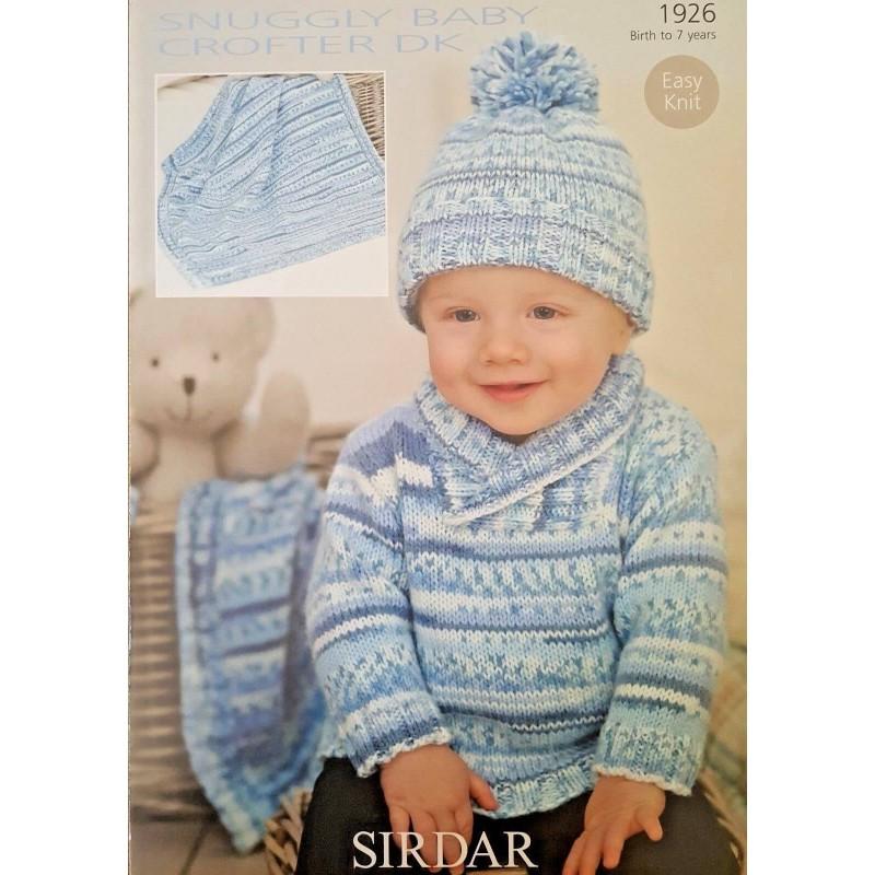 cce7e9cf4 Sirdar Knitting Pattern 1926 Baby Turn Back Hat Cardigan Blabket 0-7 Years