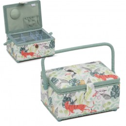 Classic Collection Sewing Box M Toucan Jungle Tiger Leopard