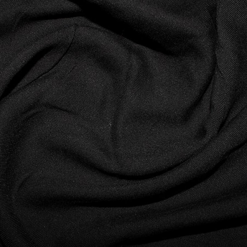100% Viscose Twill Fabric Soft Silky Feel Dress Material Black