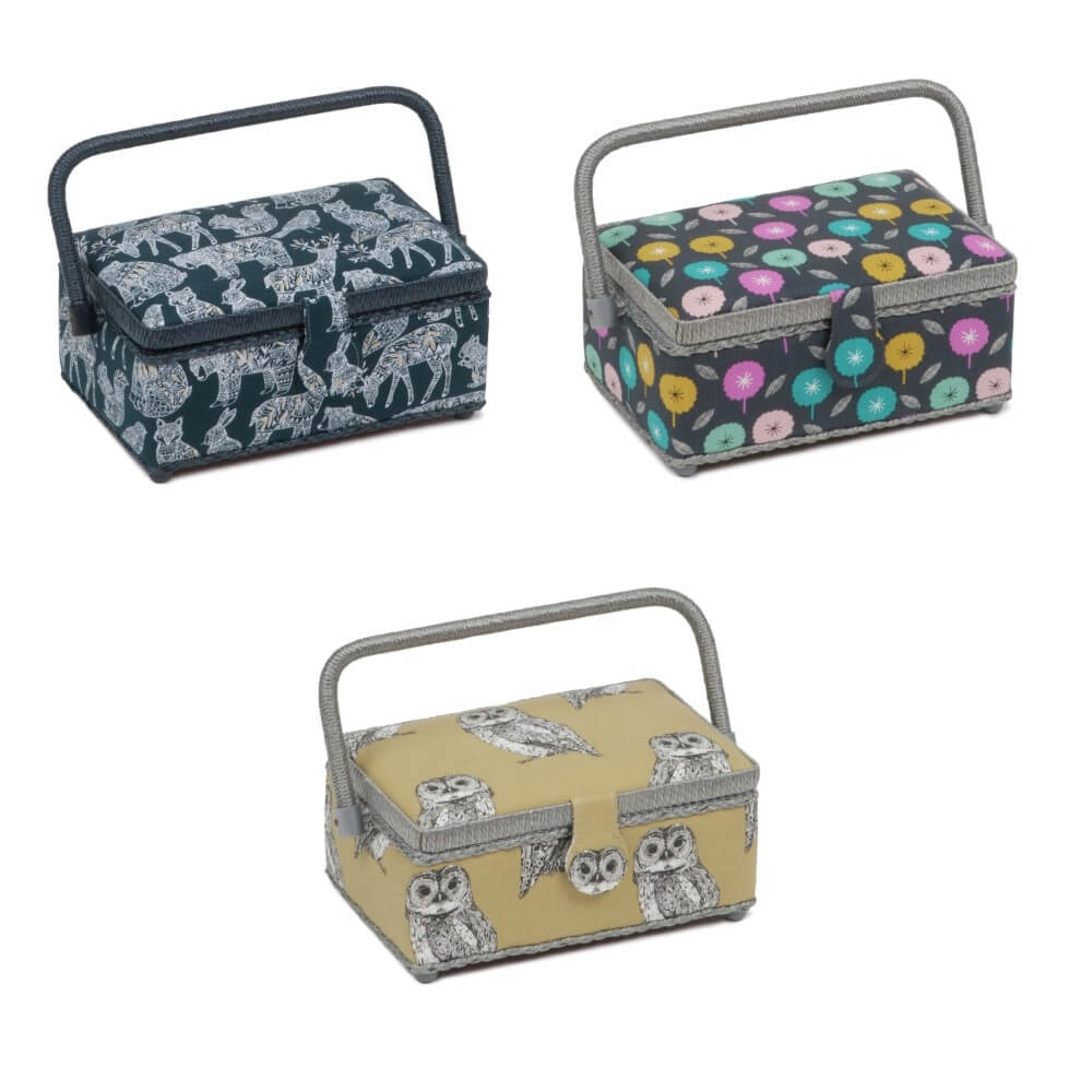 Small Rectangle Sewing Box Premium Collection Craft Storage Hobbygift