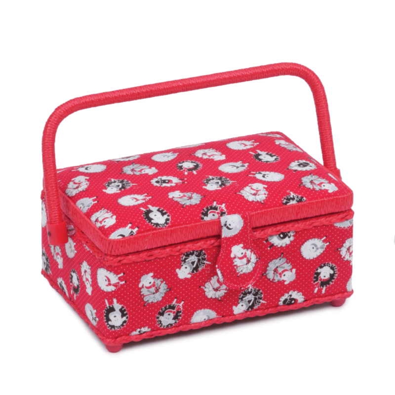 Small Rectangle Sewing Box Classic Collection Craft Storage Hobbygift Design 3 Dotty Sheep