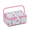 Small Rectangle Sewing Box Classic Collection Craft Storage Hobbygift Design 2 Meow