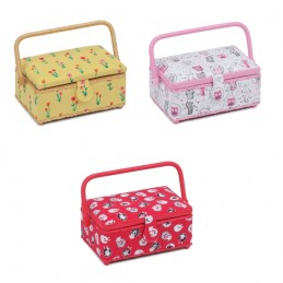 Small Rectangle Sewing Box Classic Collection Craft Storage Hobbygift