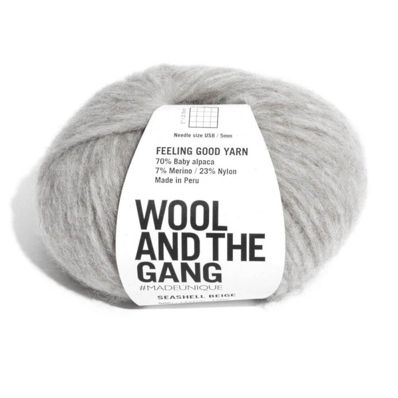 Wool and the Gang Feeling Good Yarn Super Soft 50g Ball Knitting Crochet Rocky Grey