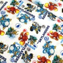 Sale 100% Cotton Patchwork Fabric Bring The Skylanders To Life White Eruptor
