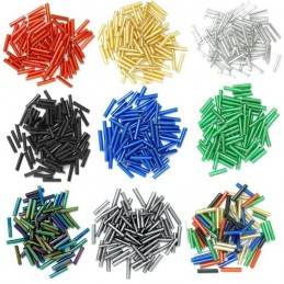 Long Bugle Glass Beads 9mm 9 Colours