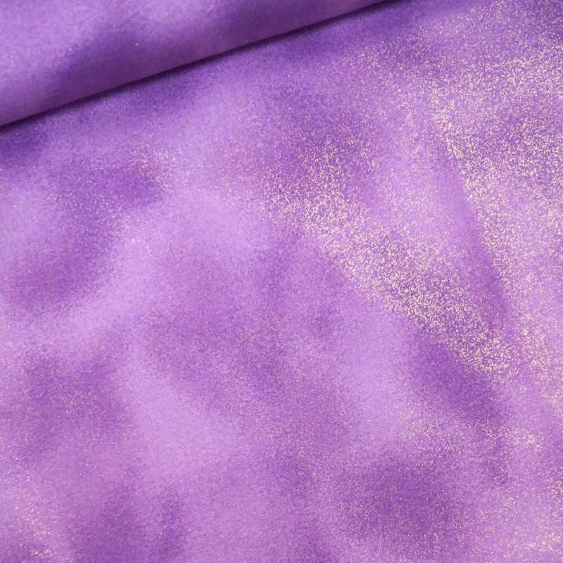 Col .12 Amethyst 100% Cotton Fabric By Fabric Freedom Glitter Sparkle Plain Patchwork Quilting Weight