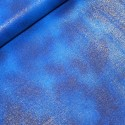 Col. 17 Sapphire 100% Cotton Fabric By Fabric Freedom Glitter Sparkle Plain Patchwork Quilting Weight