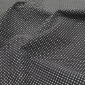 Polycotton Fabric 2mm Polka Dots Spots Dress Craft Black